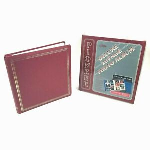 """Pioneer Deluxe 20 Page X-pando Magnetic Photo Album 12x12"""" PMV-206 - Red"""