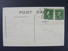 Loyd Wisconsin WI Richland County 1918 4-Bar Cancel DPO 1855-1921 Postcard