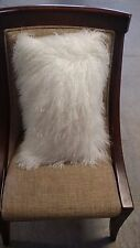 White  Real Mongolian Lamb Wool Fur  Protector Pillowcase 30x50cm Inner Cushion