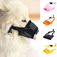 New Pet Dog Adjustable Mask No Barking Bite Mesh Mouth Muzzle Anti Stop Chewing