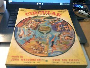 "1964 VINTAGE PUZZLE CIRCULAR "" THE OLYMPIC GAMES TOKYO "" by JOHN WADDINGTON"
