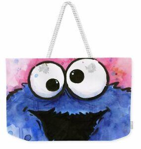 Cookie Monster Cartoon All over Print Tote Bag or Weekend Bag