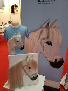 ZIEGFELD Kids Shirt Pferd Stella hellblau mit Mähne LANGARM Gr. 98 - 140 NEU