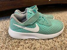Nike Tanjun Toddler Girls Running Shoes Size 10 C Light Green Athletic Sneakers