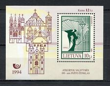 s1978) LIETUVA LITHUANIA 1994 MNH** 100th modern stamp s/s
