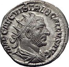 TREBONIANUS GALLUS 251AD Rome Rare Silver Ancient Roman Coin Liberty i65372