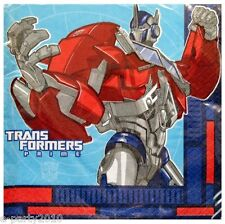 TRANSFORMERS PRIME LUNCH NAPKINS (16) ~ Birthday Party Supplies Dinner Large