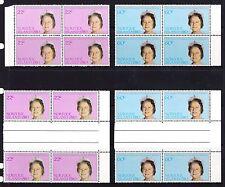 Norfolk Island 1980 Queen Mother Set Blocks and Gutter Blocks of 4 MNH