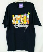 New Disney Navy Blue Mens Graphic T-Shirt XL Cotton -E10