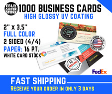 1000 Full color Business cards High Glossy UV Both Sides Fast shipping