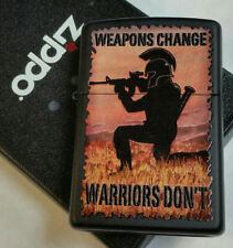 Zippo lighter Military Armed Forces Warriors Limited Edition Black Case NEW MNT