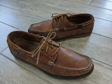 POLO ralph lauren MOCCASINS boat shoes 10.5 D brown leather