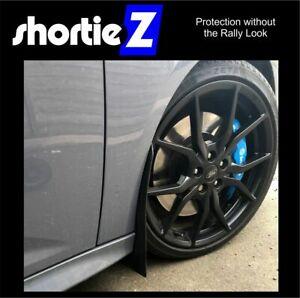 Qty4 ShortieZ Mud Flaps & Fixings Ford Focus Mk3 ST ST Line Black 4mm *Gloss PVC
