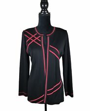 Exclusively MISOOK XS Black with Pink Trim Open Cardigan Size XS