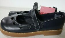 Gymboree Girls Mary Jane Shoes Navy Blue with Heart Cutouts Size 3