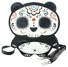 Tattooed Sugar Skull Panda Cross body Shoulder Bag Handbag Purse