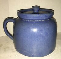 "Vintage Cornelison Kentucky Pottery Blue 8 1/2"" tall x 7 3/4"" diameter Pot Vase"