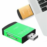 USB 2.0 4-in-1 Compact Flash Multi Memory Card Reader Adapter TF  MS
