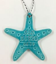 Custom Sea Star Ornament with City or Name and Year