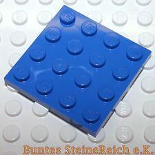 ED23) 10 Stück blaue 1/3 Steine / BAUPLATTEN 4x4 BAU PLATTE in blau & unbespielt