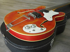 1968 Mosrite Celebrity III Thin Hollow body  Double cut 2 PU's CAR  w/ case 3
