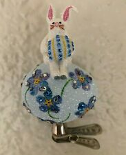 Patricia Breen - Bunny On Egg, Forget-Me-Not, Nm Excl. Glittered. Bejeweled