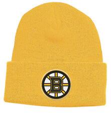 BOSTON BRUINS Knit Beanie Hat NHL Classic Gold Cuffed Ski Cap TOQUE YOUTH