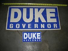 DAVID DUKE GOVERNOR POSTER & BUMPER STICKER LOUISIANA ELECTION POLITICS =