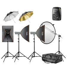 walimex pro VC Excellence Studioset Classic 3.3.5 2x300/500Ws+ Softboxen/Schirme