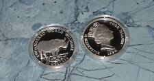 Cook Islands 50 Dollar 1990 PP , Ag.  Tiere  * Nashorn
