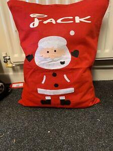 personalised father christmas xmas santa sack large stocking LARGE SACK