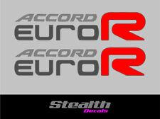 Accord Euro R stickers x2 CL7 CL9 K20 LA 200mm JDM Premium Quality x2 dark cars