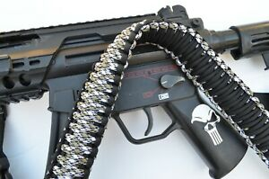"60"" Tactical 550 Paracord Gun Rifle Bow Shotgun Sling 1 or 2 Point ARCTIC CAMO"