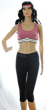 Victoria Secret PINK Ultimate Yoga Crop Capris Headband Sports Bra Lot M