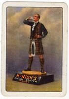 Playing Cards 1 Single Card Old Wide McNISH'S Whisky Advertising Art Man Kilt