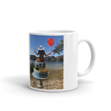New listing Woman in bikini lingerie jumping from cake birthday special mug gifts for men