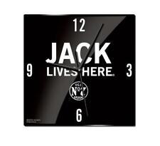 Jack Daniel's Jack Lives Here Glass Clock