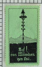 C.1900-10 Auf! von Mundsen gen Dst. Label Poster Stamp P34
