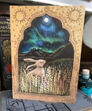 Northern Lights Greetings Card by Hannah Willow Hare in a Cornfield