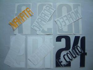 KIT NOME+NUMERO UFFICIALI PARMA HOME/AWAY 2003-2004 OFFICIAL NAMESET