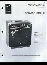 Nice Copy Fender Frontman 15B Guitar Amplifier Parts List & Schematic(s)