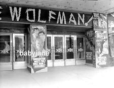 018 FRANKENSTEIN MEETS THE WOLF MAN THEATRE MARQUEE LON CHANEY JR PHOTO