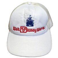 Walt Disney World Hat Snapback Cap Trucker Mesh Vintage 80s Vacation USA Mens