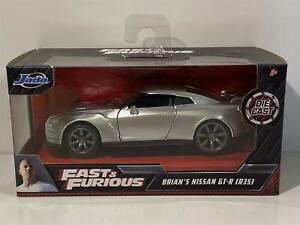 Fast & Furious Brians Nissan Skyline GT-R R35 Silver JADA 97383