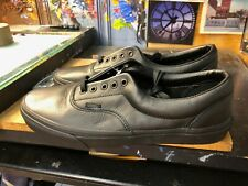 Vans Era Leather Black Mono Size US 11.5 Men New