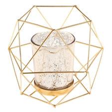 Desk Stand Hexagon Geometric Candle Holder Lantern Case Candlestick Case