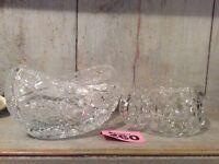 Cut glass/Crystal Bowls / Dishes bonbon dish Sugar Bowl