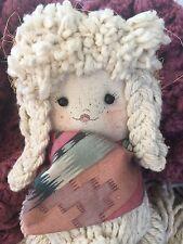 """Vintage Rag Doll Mop Doll Cow Girl Prairie 18"""" Precious!"""