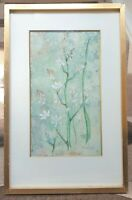 1976 Watercolour Flowers Gold Frame Painting Picture Sally Spevo