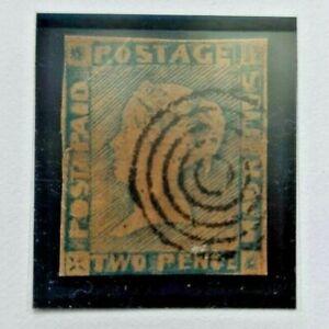 Mauritius 1848 Queen Victoria 'Post Paid' – Worn Impression. 2p Blue! Wow!